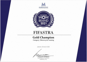 FIFASTRA Raih Gold Champion Dalam Indonesia WOW Brand Festive Day 2021